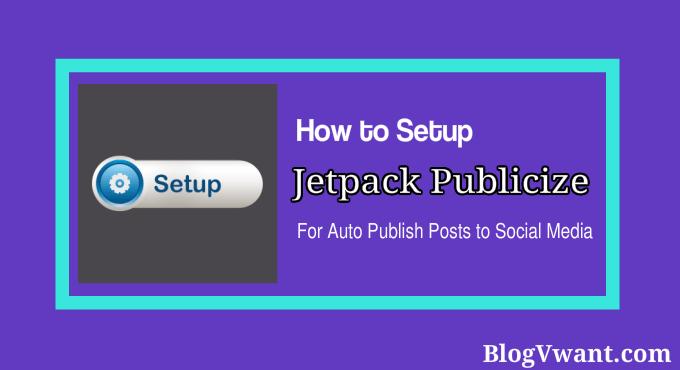 setup jetpack publicize