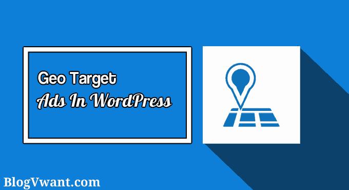 geo target ads in wordpress website
