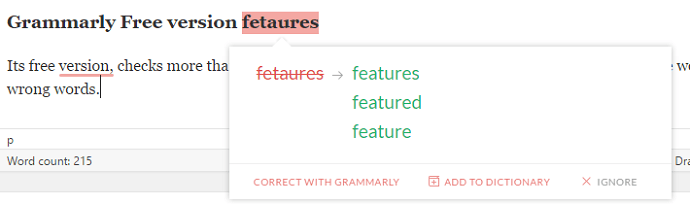Check spelling with grammarly