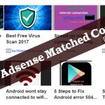 Should I Use Google Adsense Matched Content?
