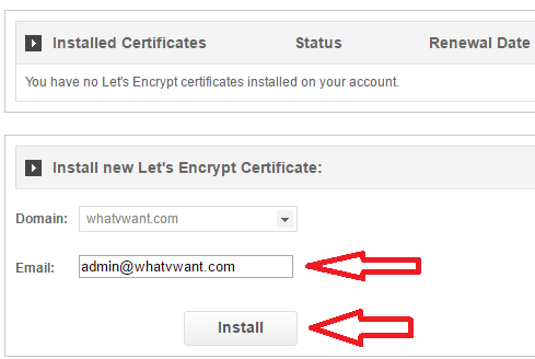 install lets encrypt on siteground