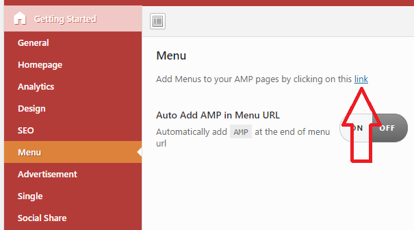 add menu to AMP