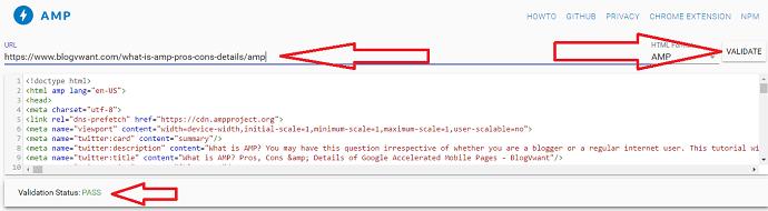amp project html validator