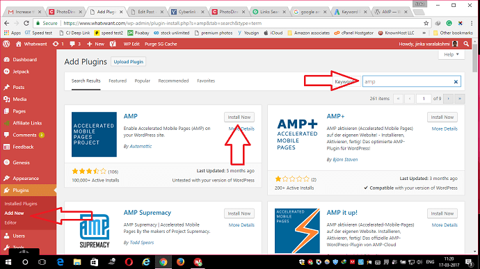 install amp wordpress plugin