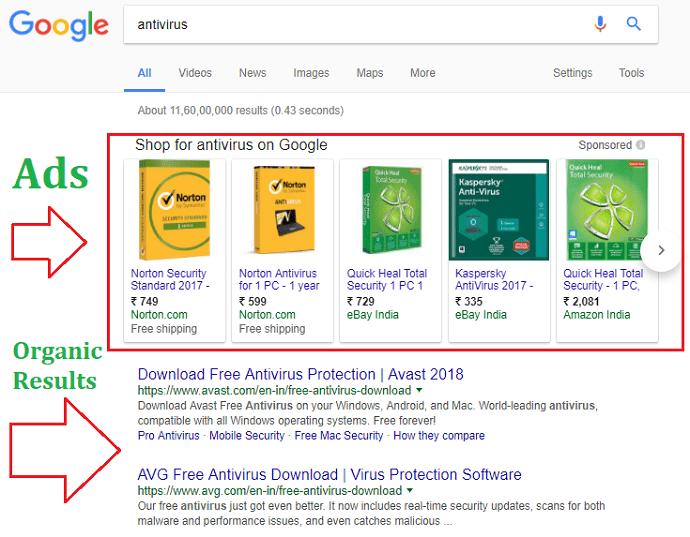 Search results - SEO
