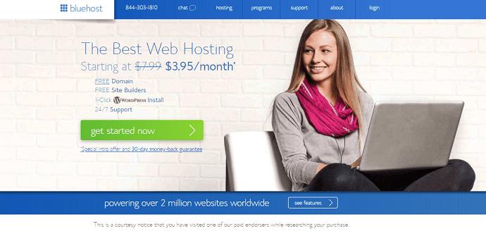 Bluehost best web hosting services