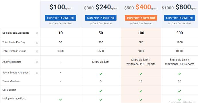 social pilot pricing