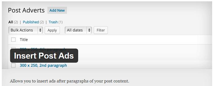 Insert Post Ads
